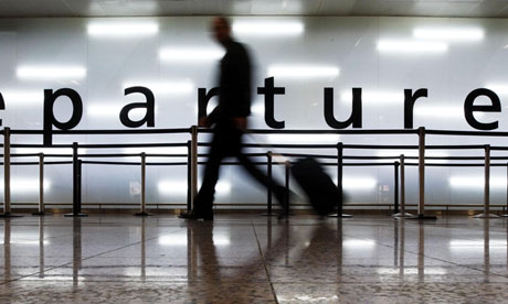 A departure lounge