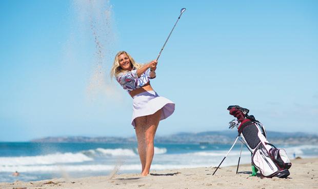 可愛いゴルファー