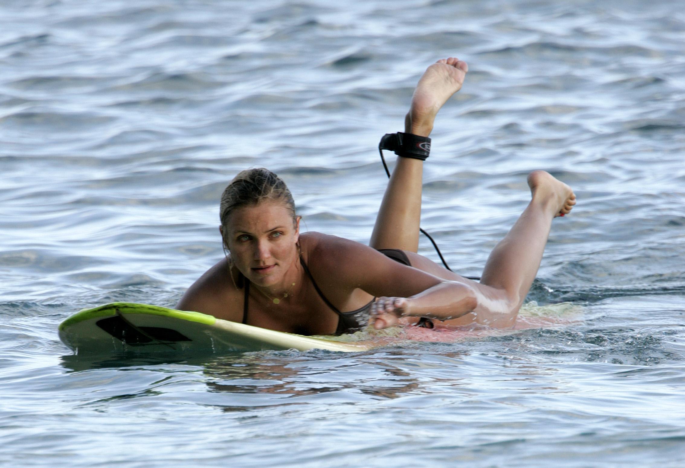 Cameron Diaz Hawaiian Surf Odyssey