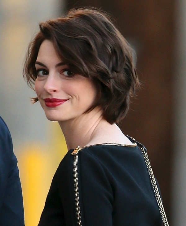 Anne Hathaway seen arriving at Jimmy Kimmel Live. Featuring: Anne Hathaway Where: Los Angeles, California, United States When: 05 Jan 2015 Credit: Michael Wright/WENN.com