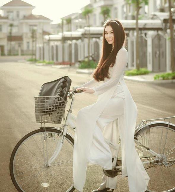 自転車美女
