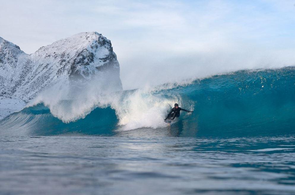 冬サーフィン