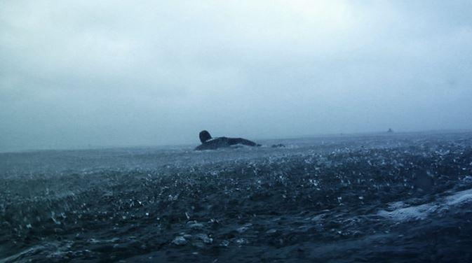 真冬のサーフィン