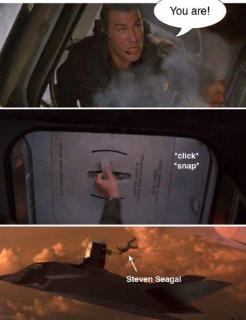 セガールが死ぬシーン