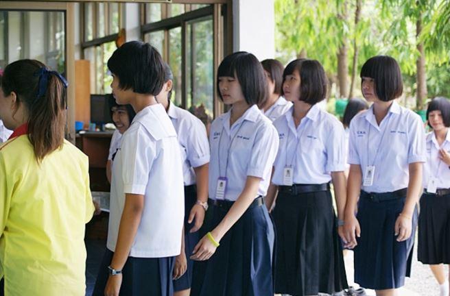 タイのおかっぱ頭