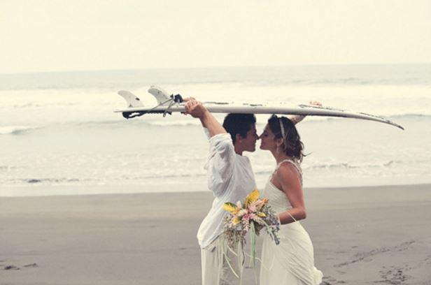 サーファーの結婚