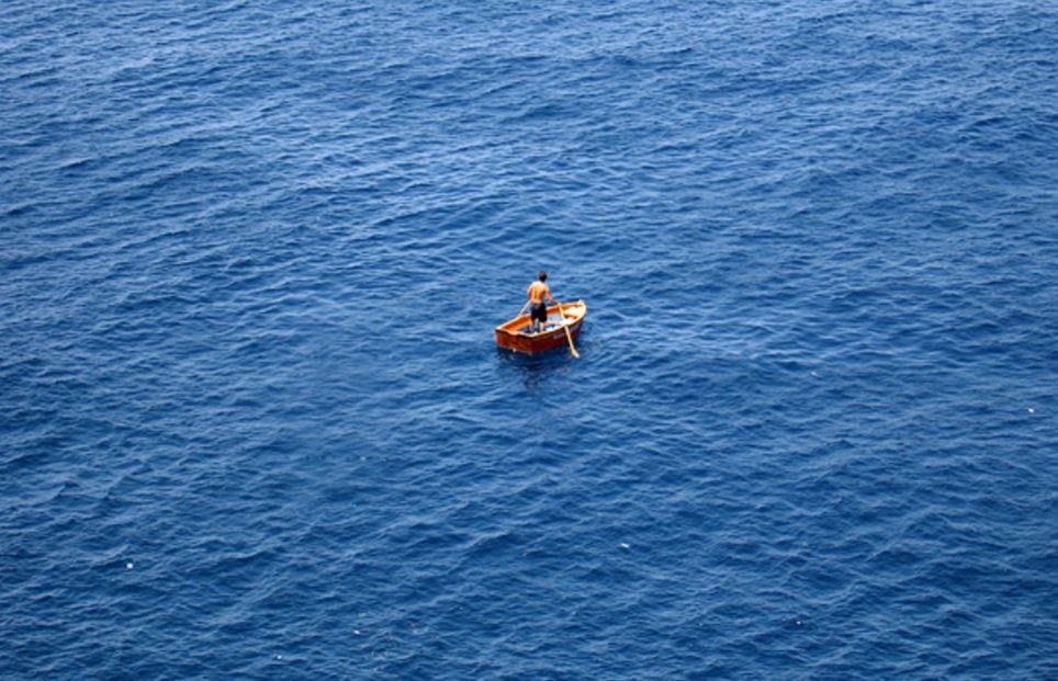 サーファー凄い流される