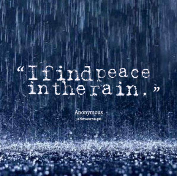 雨が平和をもたらす