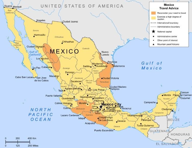 メキシコマップ
