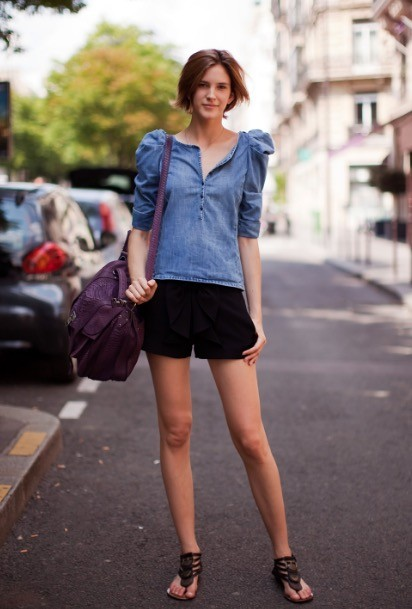 街角ファッションモデル