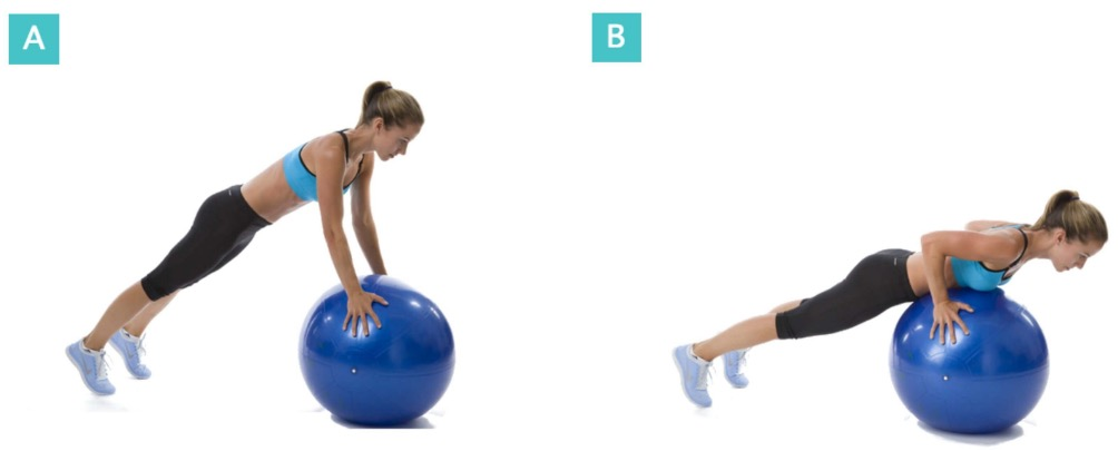 Pushups-Balanceball