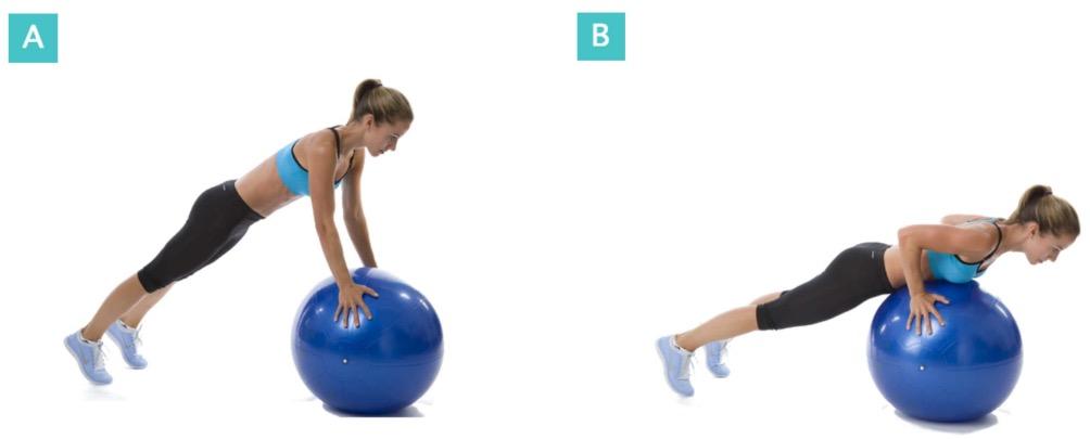 Pushups-Balanceball
