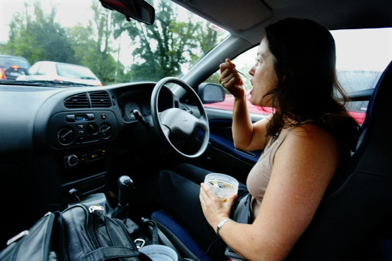 Driving-Eating