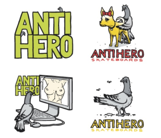 Anti Hero-Sticker