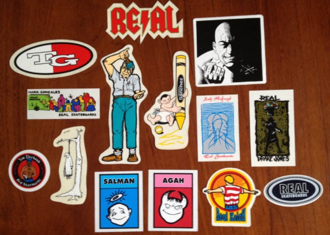 Real Skateboards-Sticker