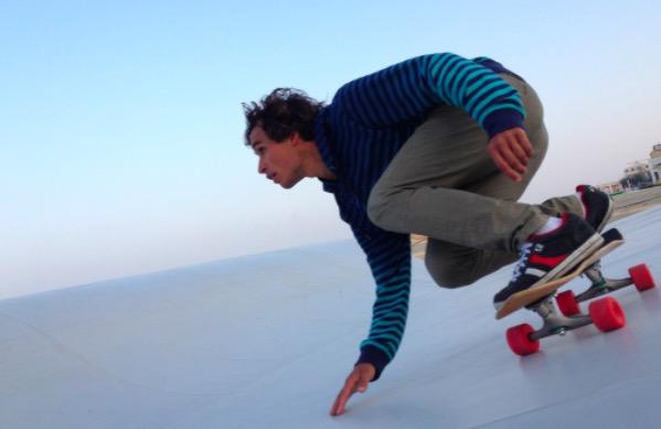 Skateboard-Bottum-Turn